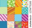 Seamless Quilt Texture. Motley Colorful Pattern for your Design - stock photo