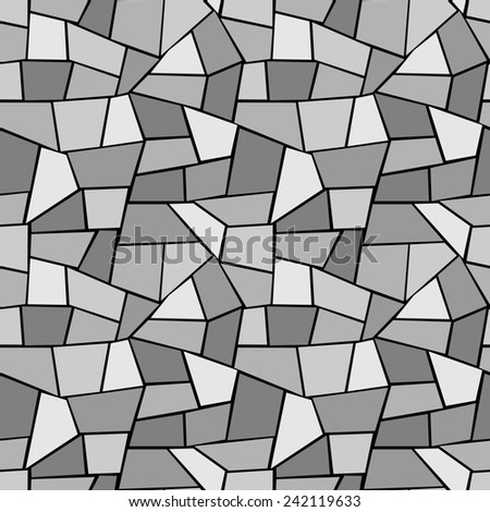Seamless Raster Pattern - Retro monochrome stained glass pattern on a black background. Vector version (ID: 173948201) in portfolio. - stock photo