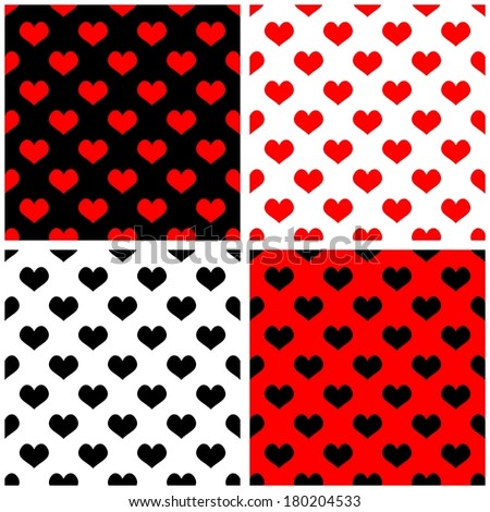 Red Black White Pattern Babies Seamless Red Black White