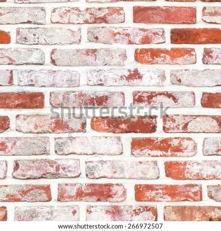 Seamless Red brickwall surface texture background - stock photo