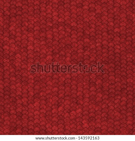 Seamless red dragon scale pattern - stock photo