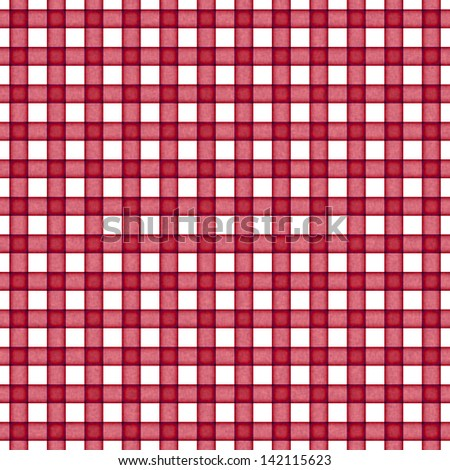 Seamless Red Gingham - stock photo