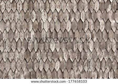Seamless roof tiles texture - stock photo