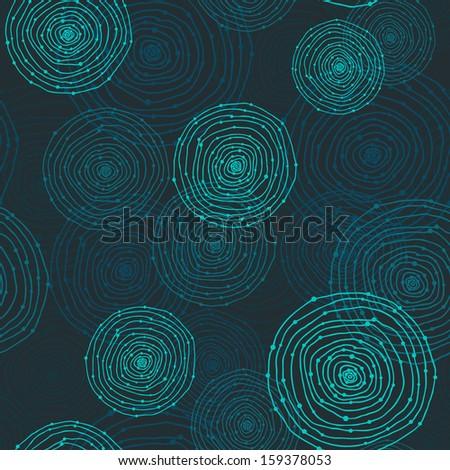 seamless round shapes, rasterized - stock photo