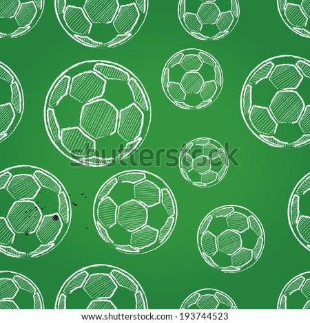 seamless soccer pattern, background  - stock photo