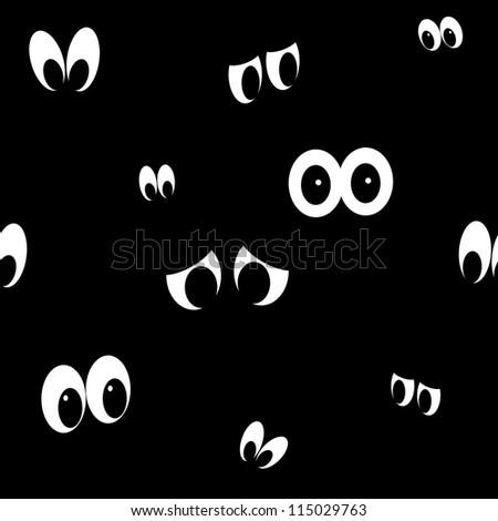 Seamless Spooky Eyes - stock photo