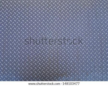 Seamless steel diamond plate vector - stock photo