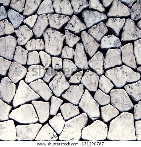 Seamless stone background for design and decorate - stock photo