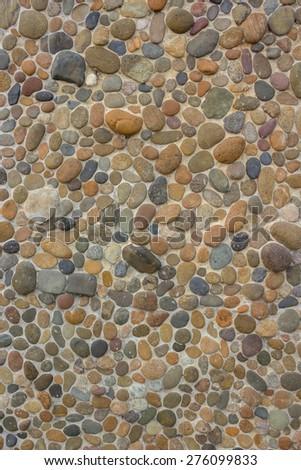Seamless Stone Pebble Texture  - stock photo