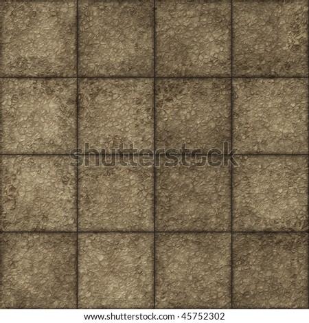 seamless stone tiles - stock photo