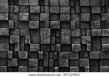 Seamless stone wall background - texture pattern for continuous replicate - stock photo