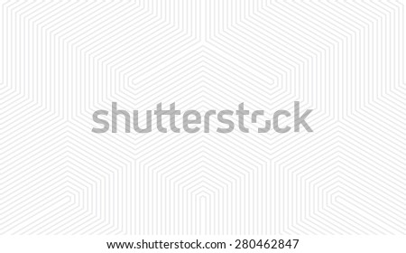 Seamless subtle gray vintage trilateral op art lines pattern - stock photo