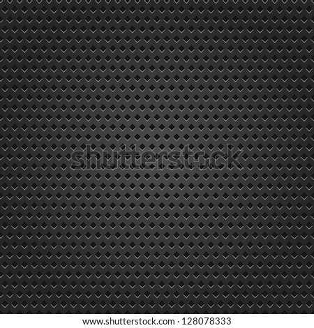 Seamless texture black metal surface rhombus perforated background. This image for clip-art design element is a bitmap copy of my vector illustrations - stock photo