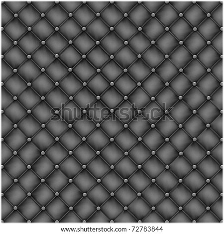 Seamless texture leather quilted a sofa. Highly detailed surface of a leather sofa. - stock photo