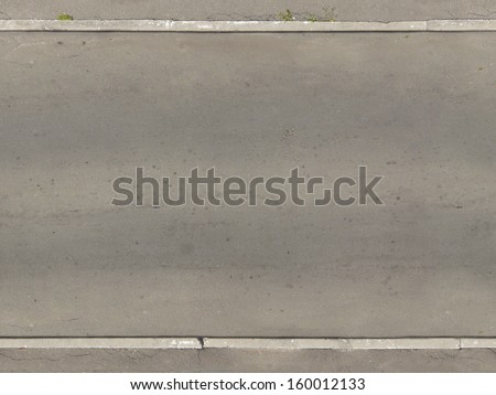 Seamless texture of asphalt road in light grey tone with smooth, clean surface. - stock photo