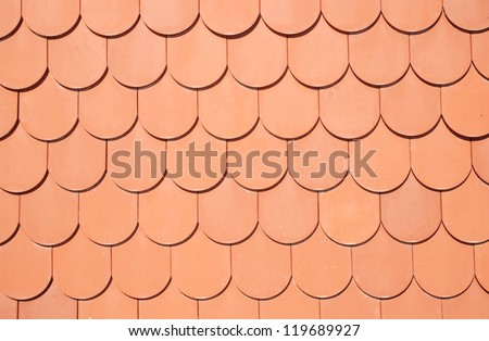 seamless texture of brown roof - stock photo