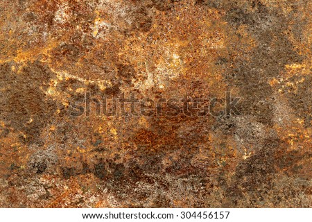 Seamless texture of old and rusty metal - stock photo