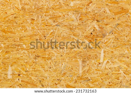seamless texture of oriented strand board - OSB - stock photo