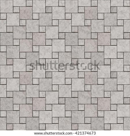 Seamless texture of paving stones. Gray tile background. A high resolution. Seamless texture of gray tiles. Pattern background. - stock photo