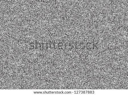 Seamless texture with television grainy noise effect for background. TV screen no signal. Horizontal template rectangle a4 format. This image is a bitmap copy my vector illustration - stock photo