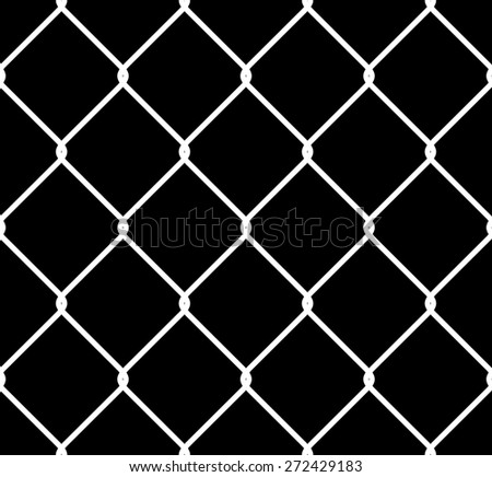 Seamless Tileable High Resolution Chain Link Fence Alpha/Selection Mask - stock photo