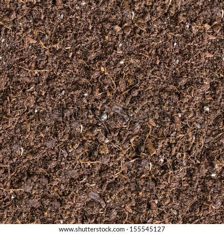 Seamless Tileable Texture of the Brown Soil. - stock photo