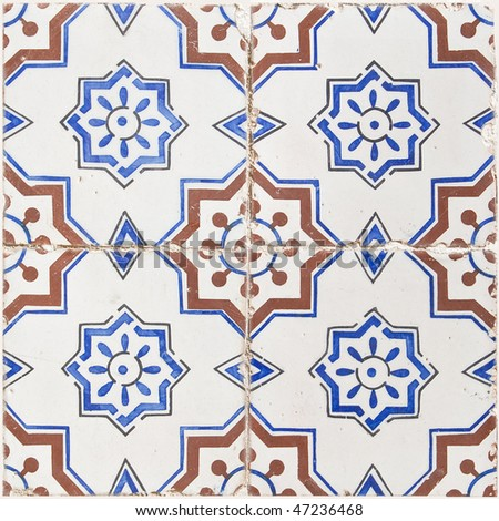 Seamless traditional mosaic pattern for backgrounds,coverage outside of buildings, high-res JPEG. - stock photo