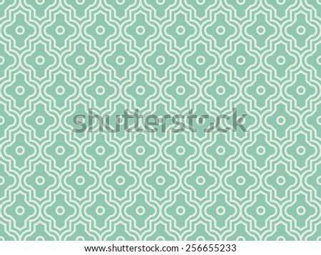 Seamless turquoise enhanced moroccan pattern - stock photo