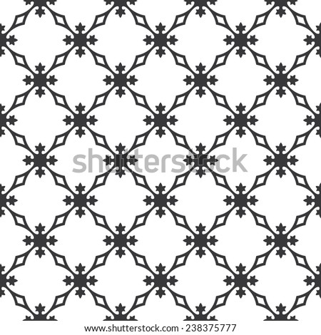 Seamless vintage revival geometric pattern - stock photo
