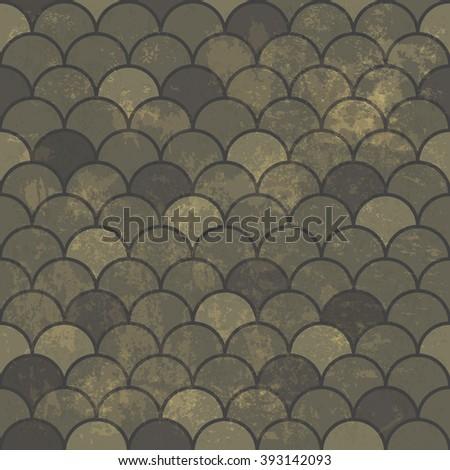 Seamless Vintage Rhombus Pattern. With Grunge Textured Background. Raster version - stock photo