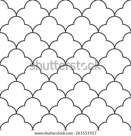 Seamless vintage round based pattern - stock photo