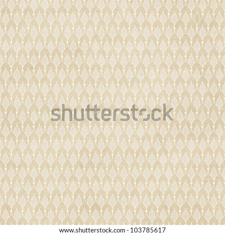 Seamless vintage wallpaper pattern on paper texture - stock photo