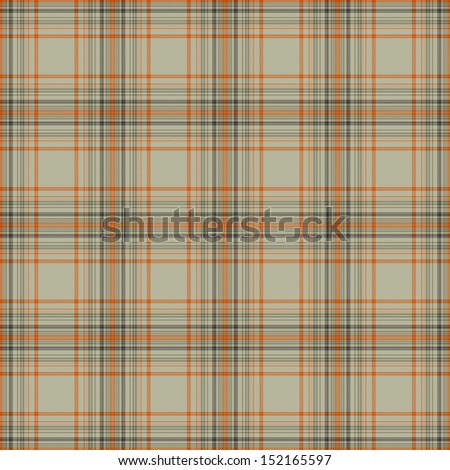 Seamless Warm Plaid - stock photo