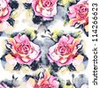 "Seamless watercolor paintings. Abstract watercolor hand painted backgrounds. Album.""Roses watercolor""."" seamless water color with the backgrounds"" - stock photo"
