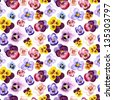Seamless watercolor pattern with cute hearts eases - stock photo