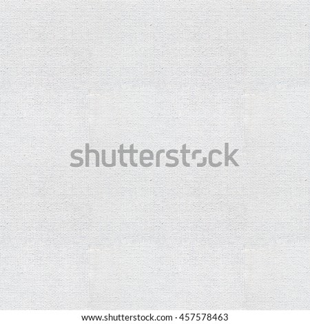 Seamless white canvas paper background. Endless fabric pattern. The high resolution blank texture. - stock photo
