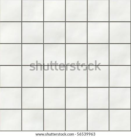 Seamless white square tiles texture - stock photo