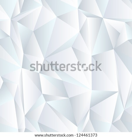 seamless white triangle background, eps 10 - stock photo