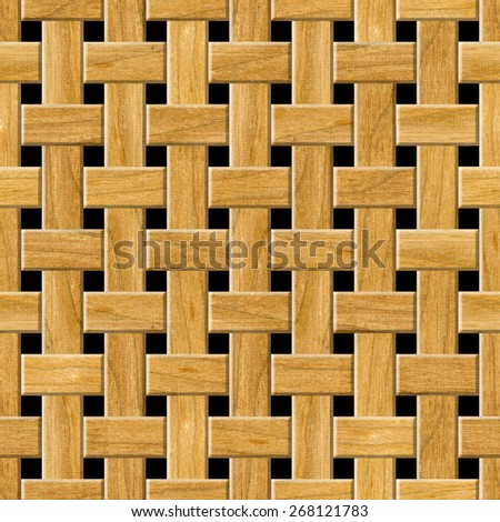 Seamless wooden lattice pattern background. - stock photo