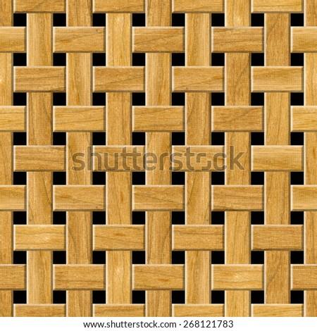 Seamless wooden lattice pattern background. - stock photo