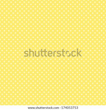 Seamless Yellow Dot Pattern - stock photo