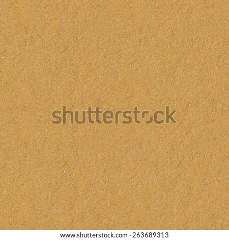 Seamless yellow sand flat surface texture. - stock photo