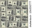 Seamlessly Tileable and repeatable !00's US Currency - stock photo