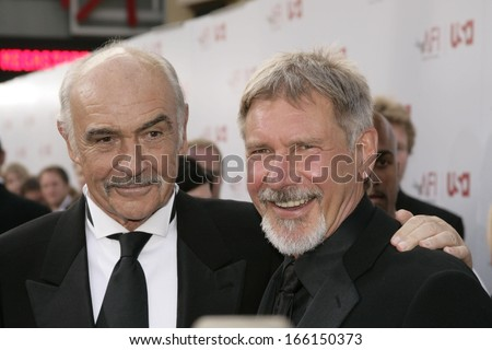 Sean Connery Harrison Ford Sean Connery Harrison Ford at