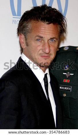 Sean Penn at the 22nd Annual Producers Guild Awards held at the Beverly Hilton hotel in Beverly Hills, California, United States on January 22, 2010.  - stock photo