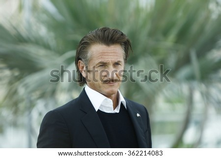 Sean Penn attends the 'Haiti Carnaval In Cannes' Photocall during the 65th Annual Cannes Film Festival at Palais des Festivals on May 18, 2012 in Cannes, France - stock photo