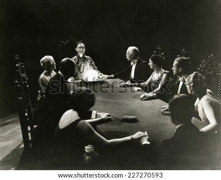 Seance - stock photo