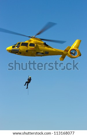 Search And Rescue (SAR) helicopter - stock photo