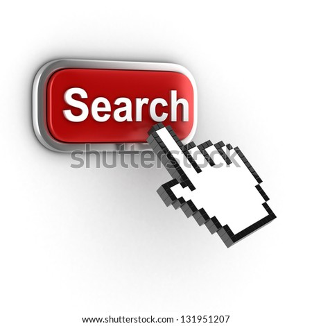 search 3d button - stock photo