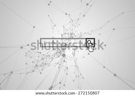 Search engine against black lines on grey background - stock photo